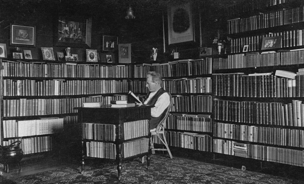 John Dowgray in his private library